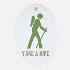 Take a Hike Green Oval Ornament