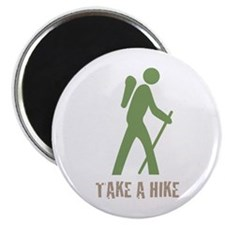 Take a Hike Green Magnet