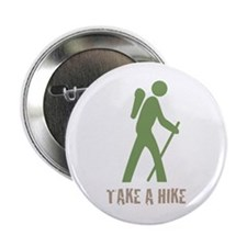 "Take a Hike Green 2.25"" Button"