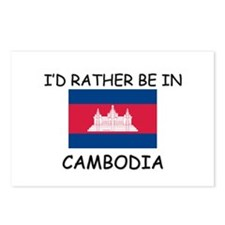 I'd rather be in Cambodia Postcards (Package of 8)
