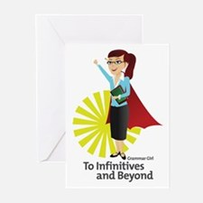 Grammar Girl - To Infinitive Greeting Cards (20)