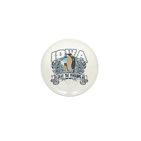 Save the Penguins Iowa Mini Button