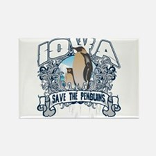 Save the Penguins Iowa Rectangle Magnet