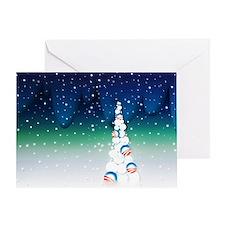 Barack Obama Christmas Tree Greeting Card (Vivid)