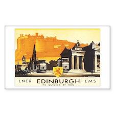 Edinburgh Scotland Rectangle Decal