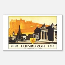 Edinburgh Scotland Rectangle Decal