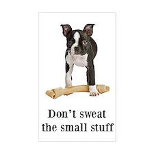 Boston Terrier Stuff Rectangle Decal