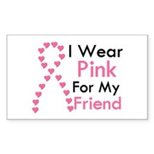 I Wear Pink Rectangle Decal