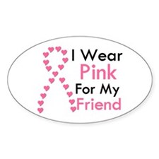 I Wear Pink Oval Decal