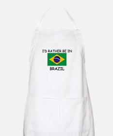I'd rather be in Brazil BBQ Apron