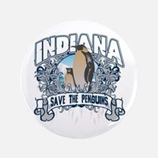 """Save the Penguins Indiana 3.5"""" Button"""