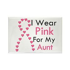 I Wear Pink Rectangle Magnet