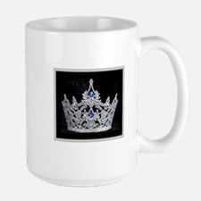 Large Mug w/Elegant Silver and Black Crown