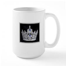Coffee Mugw/Elegant Silver and Black Crown