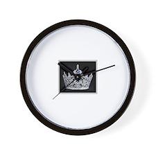 Elegant Silver and Black Wall Clock