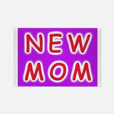 New Mom - baby announcement Rectangle Magnet