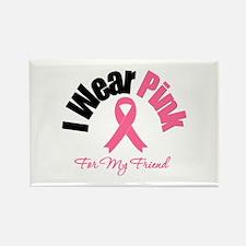 I Wear Pink Friend Rectangle Magnet