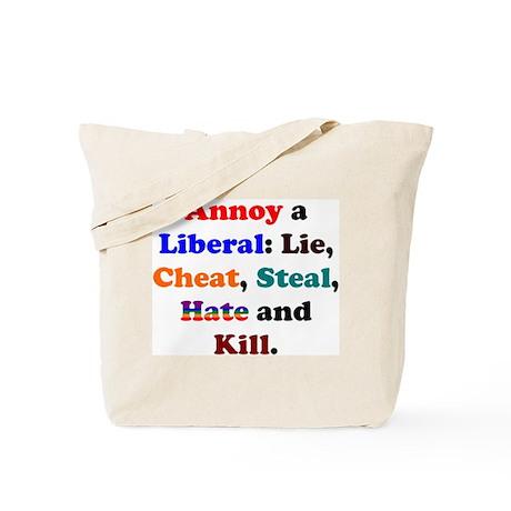 Koy's Logo+Annoy a Liberal Tote Bag