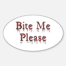 Bite Me, Please Oval Decal