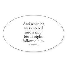 MATTHEW 8:23 Oval Decal