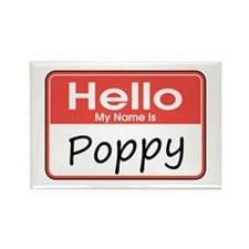 Hello, My name is Poppy Rectangle Magnet
