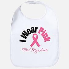 I Wear Pink Aunt Bib