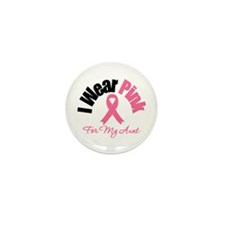 I Wear Pink Aunt Mini Button (10 pack)