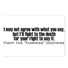 Fight the Fairness Doctrine Postcards (Package of