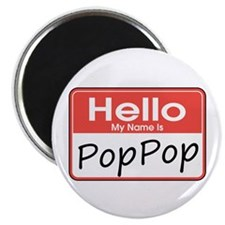"Hello, My name is PopPop 2.25"" Magnet (10 pack)"