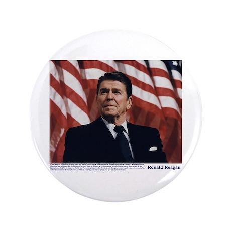 """Reagan on Conservatives as Re 3.5"""" Button"""