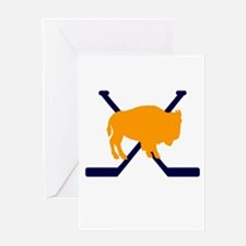 Buffalo Cross-Sticks Greeting Card