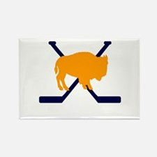 Buffalo Cross-Sticks Rectangle Magnet