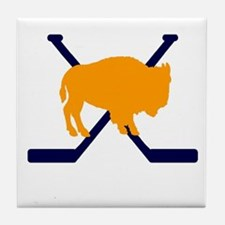 Buffalo Cross-Sticks Tile Coaster