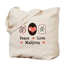 Peace Love Mahjong Tote Bag