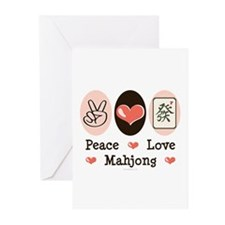 Peace Love Mahjong Greeting Cards (Pk of 10)