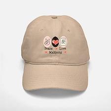 Peace Love Mahjong Baseball Baseball Cap