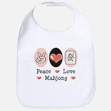Peace Love Mahjong Bib