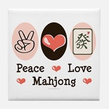 Peace Love Mahjong Tile Coaster