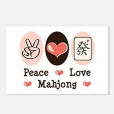 Peace Love Mahjong Postcards (Package of 8)