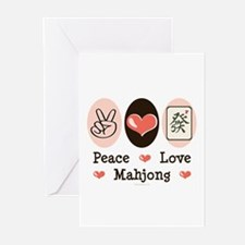 Peace Love Mahjong Greeting Cards (Pk of 20)