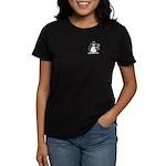 Penguin with Flower Bouquet Women's Dark T-Shirt