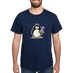 Penguin with Flower Bouquet Dark T-Shirt