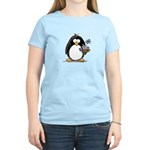 Penguin with Flower Bouquet Women's Light T-Shirt