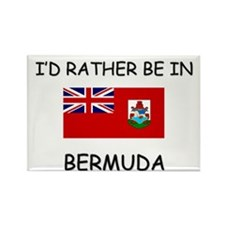 I'd rather be in Bermuda Rectangle Magnet