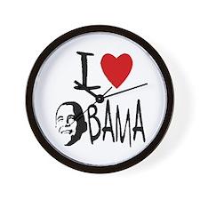 Unique I heart obama Wall Clock