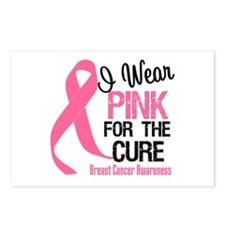 I Wear Pink For The Cure Postcards (Package of 8)