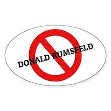 Anti Donald Rumsfeld Oval Decal