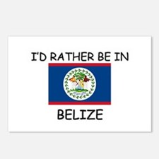 I'd rather be in Belize Postcards (Package of 8)
