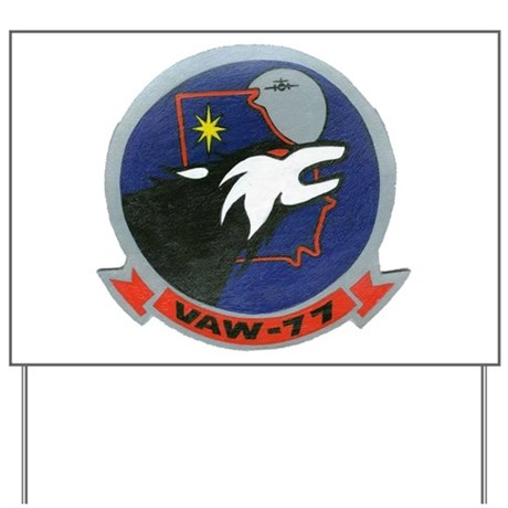 VAW 77 Nightwolves Yard Sign
