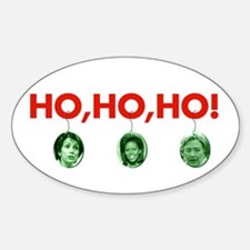 Ho, ho, ho Oval Decal